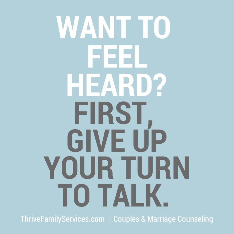 Couples Counseling how to feel heard