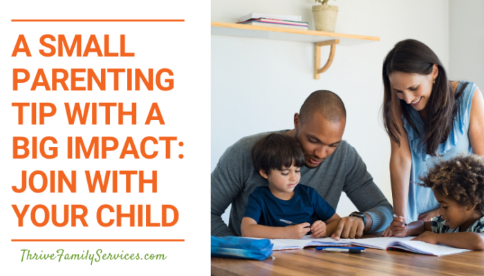 A Small Parenting Tip with a Big Impact: Join with your Child   Littleton Colorado Parenting Therapy