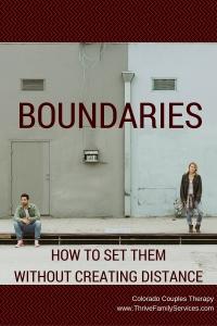 set boundaries, Greenwood Village marriage counselor