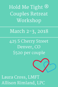 Denver couples retreat, Hold Me Tight workshop